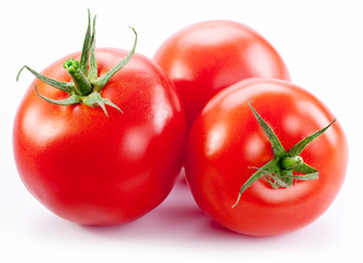 Ripe red tomatoes.