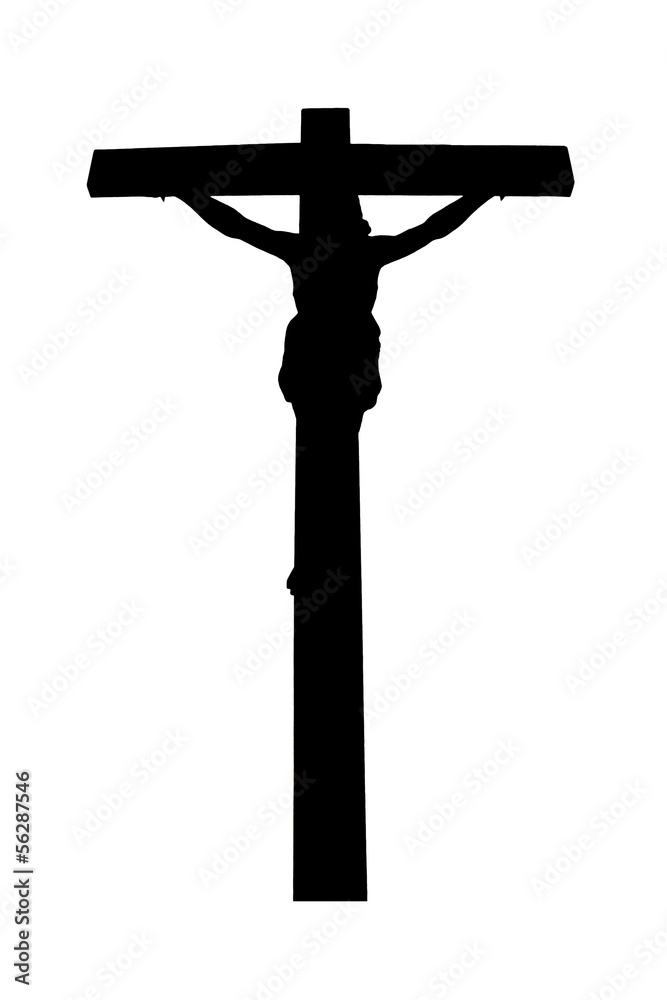 Jesus christ crucified in golgotha wall sticker