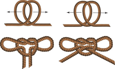 Brown Rope borders with Different Knotss for your design