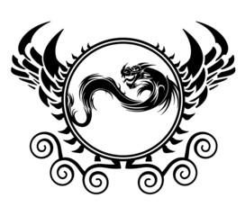 dragon wappen