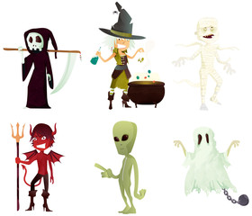 personnages halloween