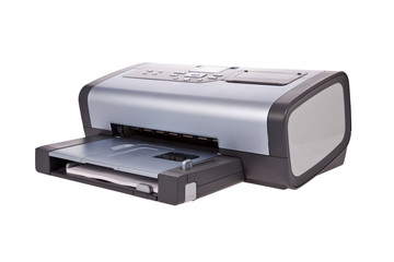 Inkjet printer isolated on a white background.