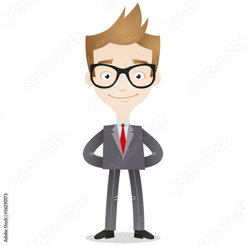 Businessman, standing, confident,