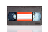 Old Video Cassette tape isolated on white background