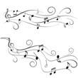 Music notes on staff - 56291514