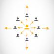 Network illustration concept