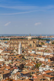 Panoramic views of Venice from Campanile di San Marco. Venice