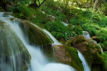 Waterfall between rocks