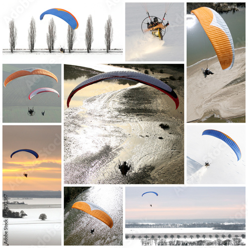 Papiers peints Aerien Parapentes motorisées