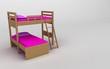letto a castello per cameretta bambini in legno