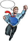 Business Superman with speech bubble