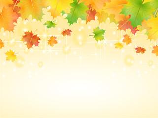 Herbst Hintergrund Sterne funkeln