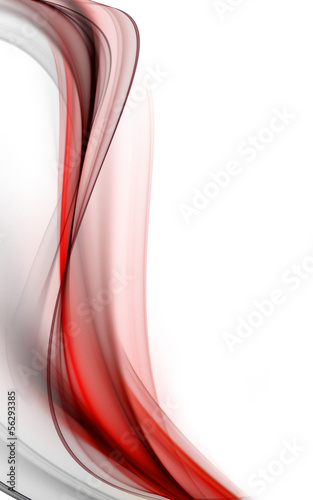 Abstract elegant wave on white background