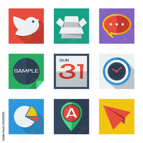internet - web flat icons