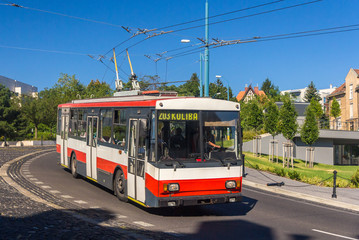 Old trolleybus in Bratislava - Slovakia
