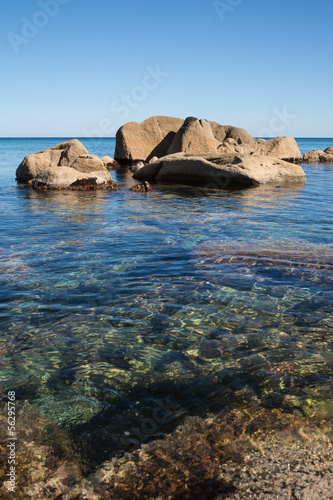 Summer landscape of sea coast. Russia. Japan sea.