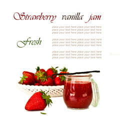 Sweet strawberry jam