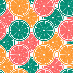 Colorful seamless pattern with oranges