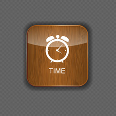 Watch wood application icons