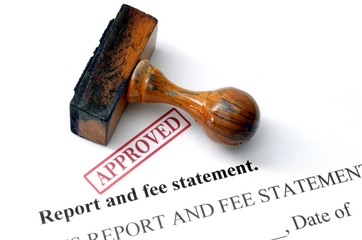 Report and fee statement