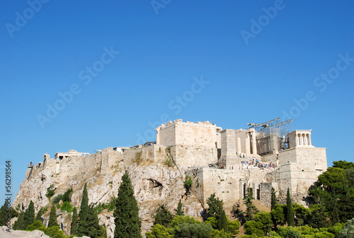 View of Acropolis from Areipagus hill - Athens, Greece