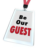 Be Our Guest Badge Lanyard Welcome Visitor