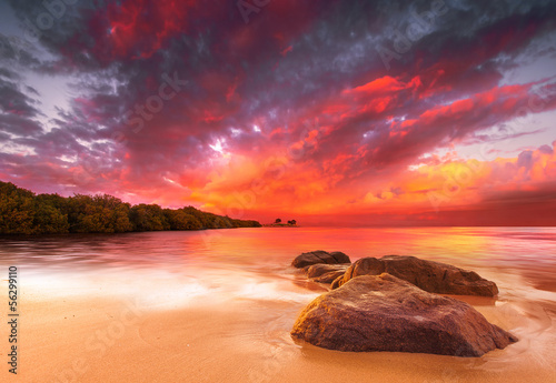 canvas print picture Stunning Tropical Sunset