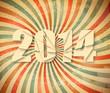 2014 Happy New Year retro background. Vector.