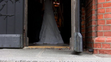 Bride and her father in the church