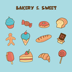 bakery and sweet icon