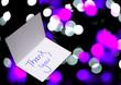 thank you card on abstract background