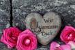 Herz mit Trauerspruch