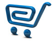 Illustration of blue shopping cart