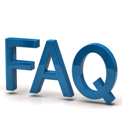 Blue FAQ icon