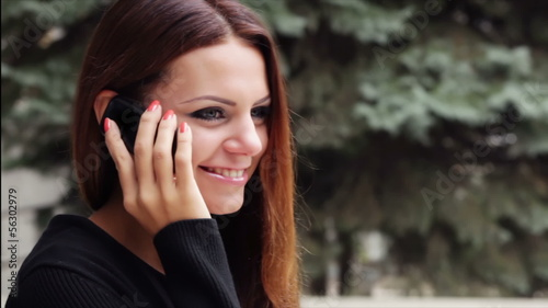 Girl talking on a cell phone