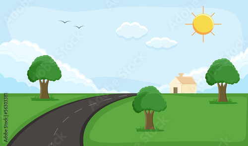 rural background - Cartoon Background Vector