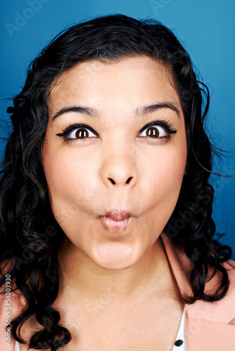 funny woman face