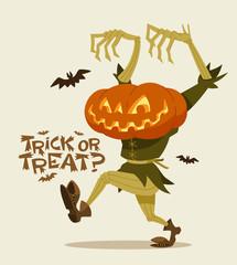 Jack O'lantern. Halloween character.