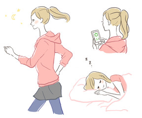 ランニングする女性