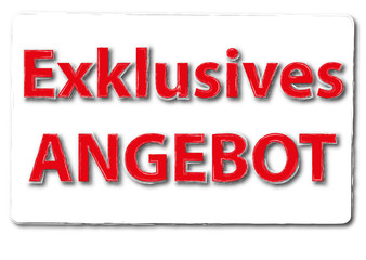 Exklusives Angebot Button Symbol rot