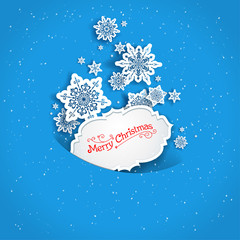 Holiday snow background