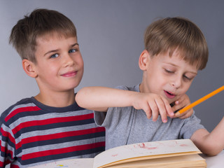 schoolboys, education concept
