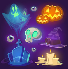 Spooky Halloween objects