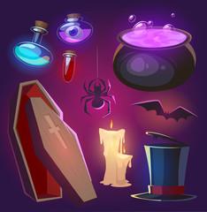 Spooky Halloween objects