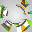 Abstract technology circles background, dynamic illustration.