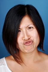 funny face chinese girl