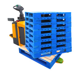Forklift Truck with a Pallet - include path