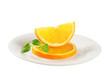 Slices of fresh orange