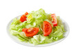 Ice lettuce and tomato wedges