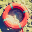 Life buoy retro looking